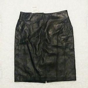 BEBE Moda Black Leather Skirt SZ 4